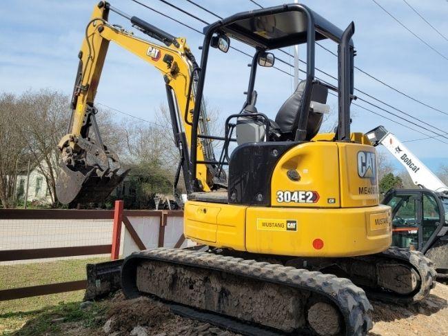 mini-excavator used in construction work